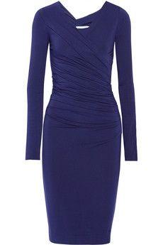 Diane von Furstenberg Bentley ruched stretch-jersey dress | THE OUTNET