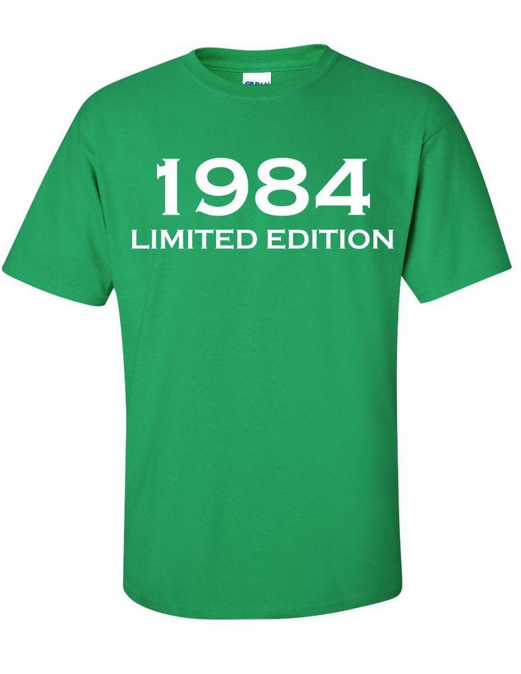 1984 Limited Edition 30th Birthday Party Shirt TShirt by Bargoonys, $19.99