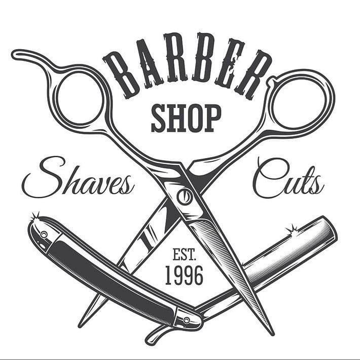 Pin De Pelukas En Memphis The Barbershop Barberias Modernas Logos Para Barberia Tijeras Peluqueria