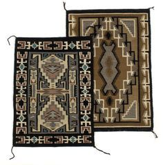 Navajo Two Grey Hills Weavings, - Cowan's Auctions