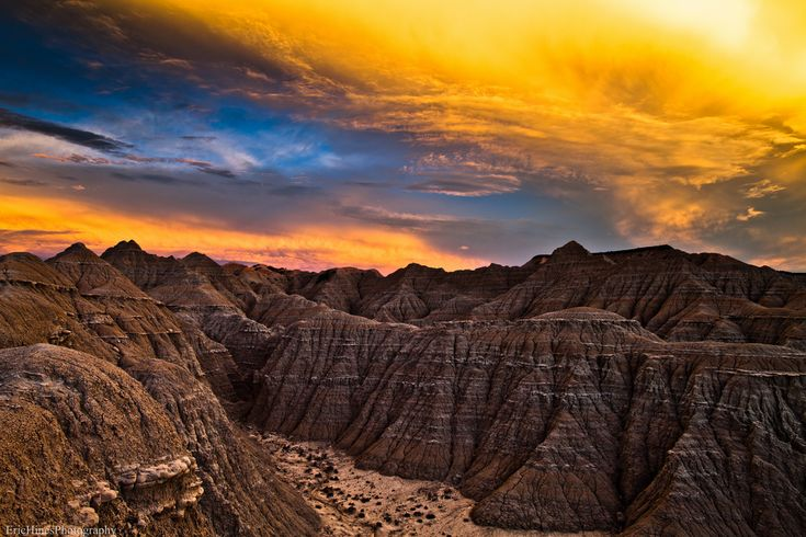 "Mars-esque - ""Toadstool Sunset""  |   Eric Hines PhotographyTravel Nebraska, Dakota Badlands, Photography Travel, Nature, Beautiful, Toadstool Sunsets, Hines Photography, Eric Hines, Zonsondergang Sunsets"