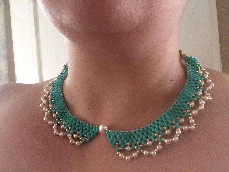 Super duo bead necklace