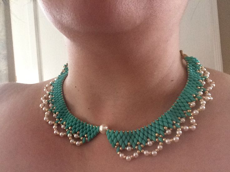 Super duo bead necklace