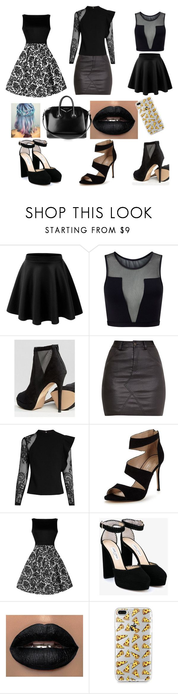 """""""work look"""" by yurikoambrose ❤ liked on Polyvore featuring Varley, ALDO, self-portrait, Carvela, Jimmy Choo and Givenchy"""