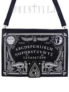 """""""OUIJA BOARD BAG"""" Occult purse, spirit board, planchette"""