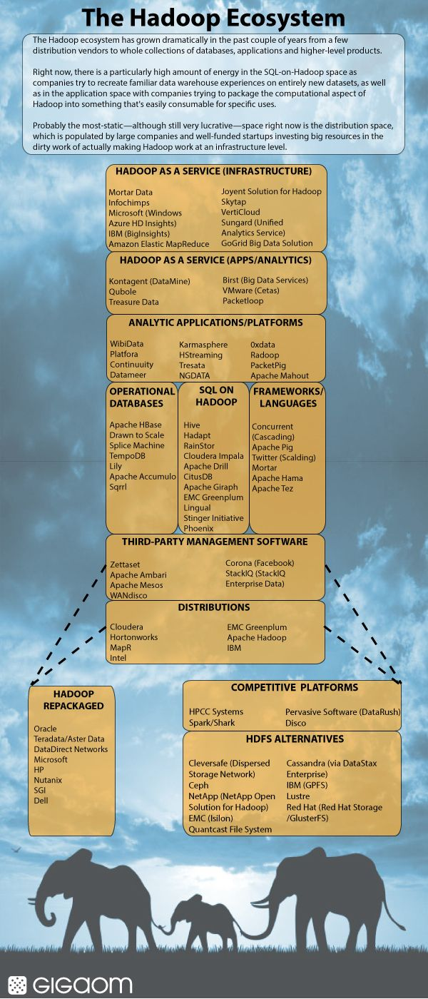 The Hadoop ecosystem: the (welcome) elephant in the room (infographic) — Tech News and Analysis