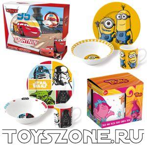 Посуда с героями: купить кружки чашки тарелки детские наборы посуды с изображением мультгероев и героев в интернет магазине ToysZone.ru