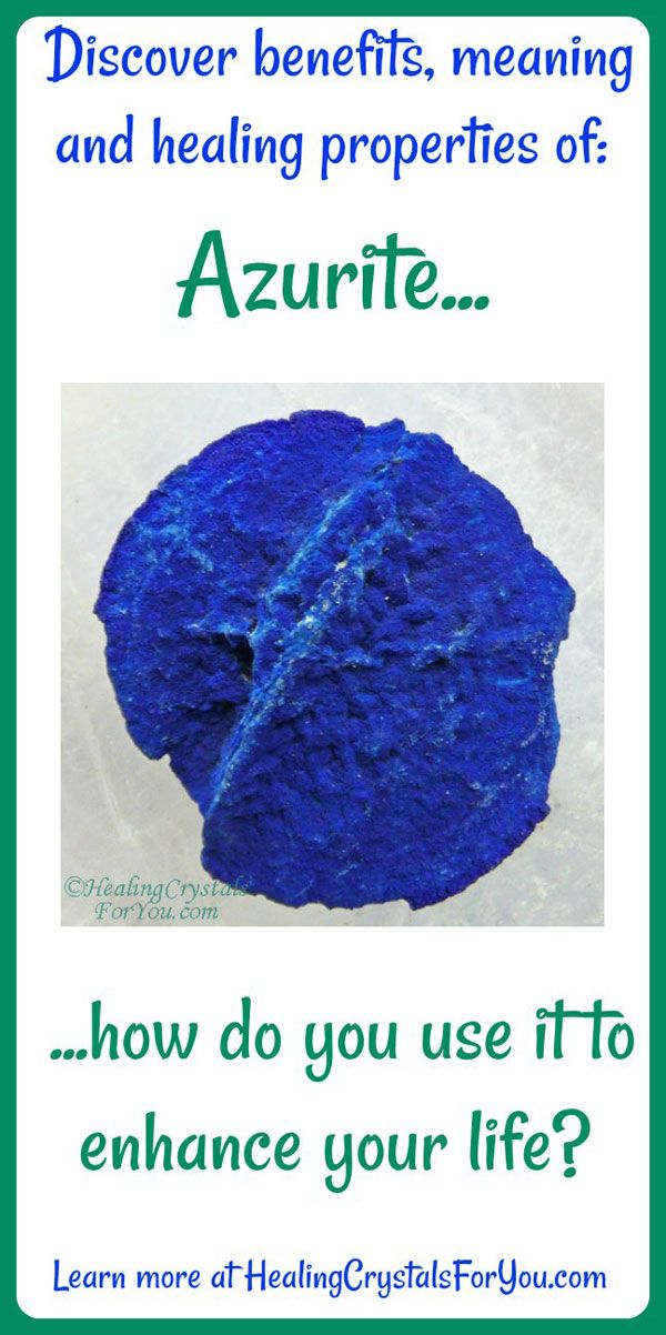 Properties and Meanings Azurite: #Azurite Aids #ThirdEyeActivation boosts #psychicability contact with spirit guides #spiritguides