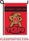 Maryland Terrapins Double Sided Garden Flag