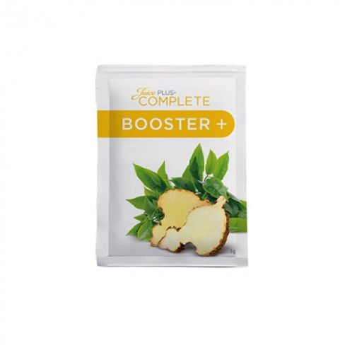 DETAILS + vegetarian + gluten-free + without preservatives + GMO-free + dual action-effect + natural green tea extract + innovative ingredient with convincing study results: glucomannan + Glucomannan helps people maintain a low-calorie diet conducive to weight loss Each delivery consists of 30 daily doses COMPLETE Booster