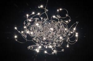 hanglamp  66383: modern, chroom, rond, langwerpig, ovaal ...