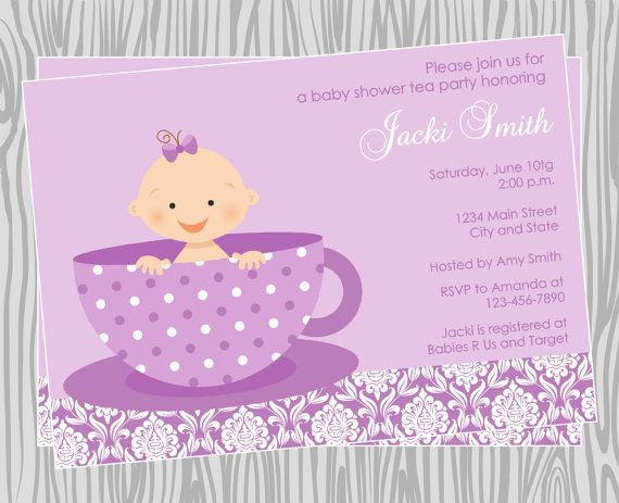 best dalise's baby shower images on   tea party, Baby shower invitation
