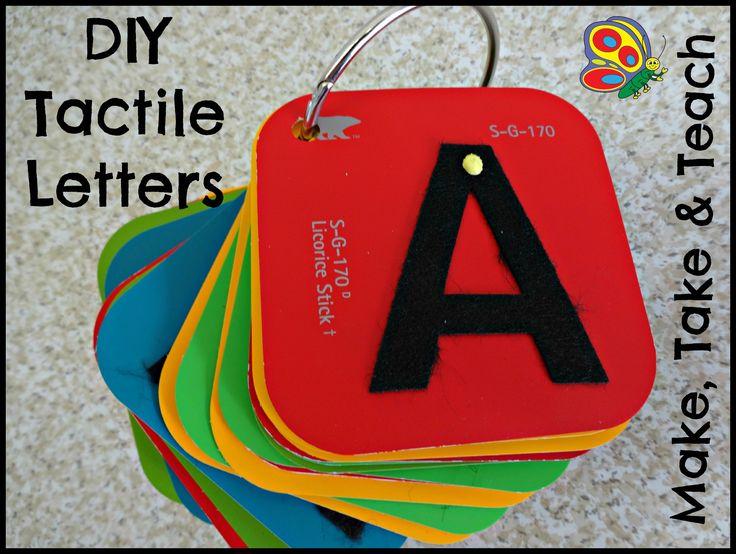 7/2013- DIY Tactile Letters. Super easy to make!