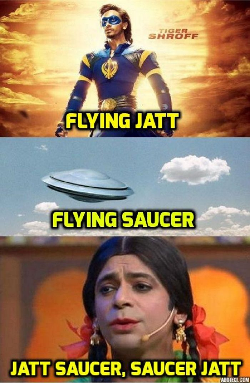 A Flying Jatt Tiger shroff, Funny memes, Bollywood memes