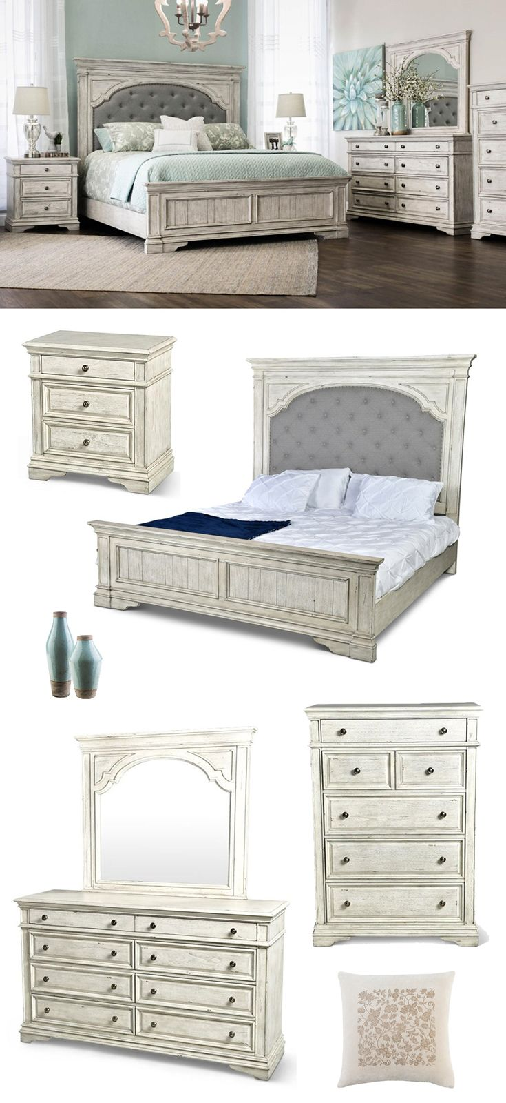 The Highland Park Collection Draws On Classic Detailing And Shapes To Help You Create A Bedroom Retreat T Classic Bedroom Furniture Furniture Bedroom Furniture