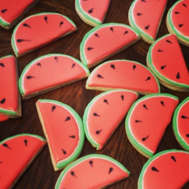 Watermelon sugar cookies | Puleo Pastries | Pinterest