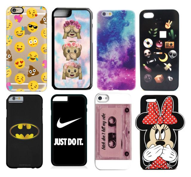"""""""8 iPhone cases every girl needs"""" by ingrid-saeterdalen on Polyvore featuring Casetify, Samsung, NIKE and Forever 21"""