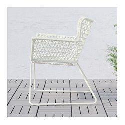 IKEA - HÖGSTEN, Armlehnstuhl/außen, Handgeflochtenes Kunstrattan wirkt wie Naturrattan, ist aber für die Benutzung im Freien besser geeignet.Sommermöbel aus pflegeleichtem Material.Leicht zu reinigen - einfach feucht abwischen.