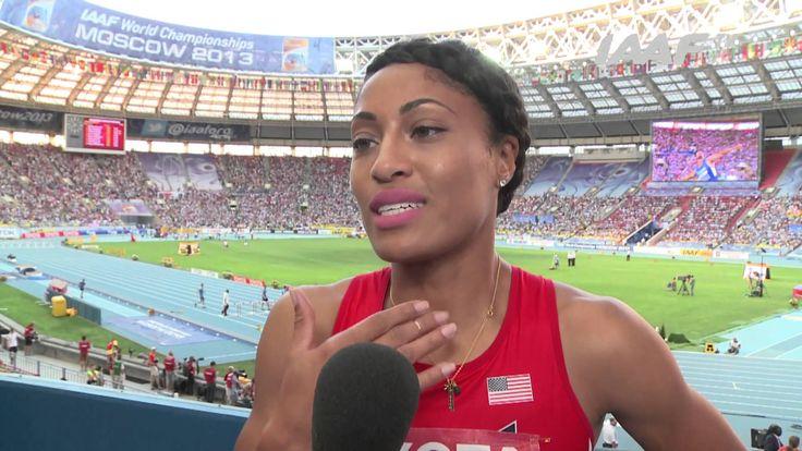 Moscow 2013 - Queen HARRISON USA - 100m Hurdles Women - Final
