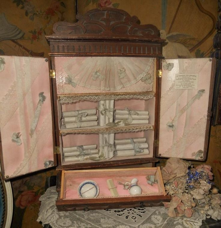 """~~~Rare Bebe´s Wooden """" Petite Armoire """" from Paris Doll Shop ~~~ from whendreamscometrue on Ruby Lane"""