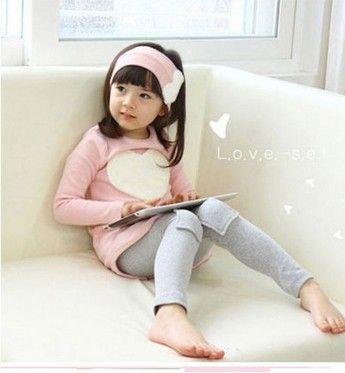 >> Click to Buy << New 2016 love sign baby kids girls clothing sets ( headband + coats + pants ) children outerwear clothes casual girl's suits #Affiliate