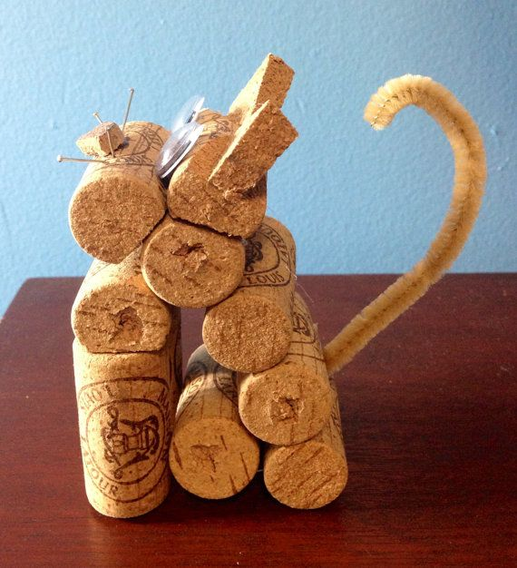 Cat figurine made from recycled corks | Get Crafty ...