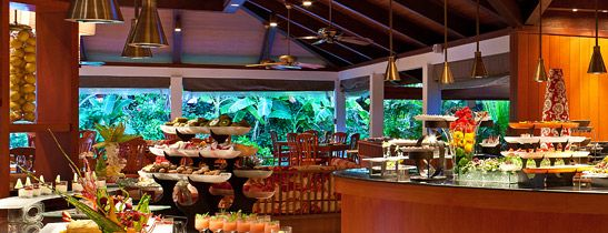 Buffet setup for Sheraton Maldives Full Moon Resort & Spa | Glass Dinnerware Solutions For Restaurants