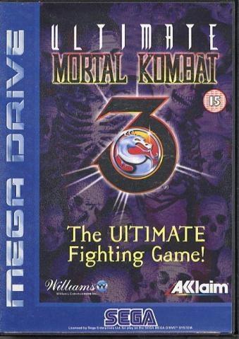 Ultimate Mortal Kombat 3 - Sega Mega Drive Cartridge Cover