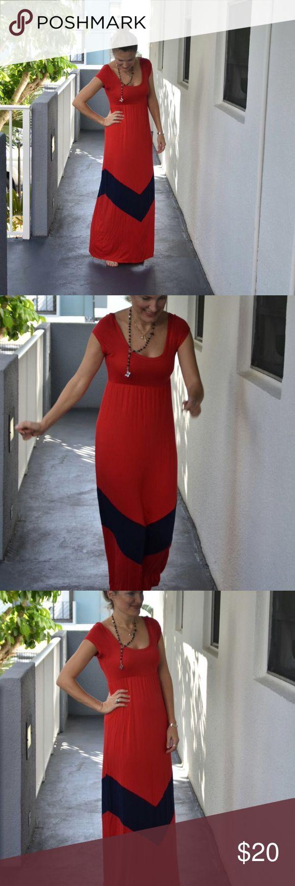 Gabriella Rocha maxi dress red and blue 🍒🍒🍒 Gabriella Rocha Maxi dress in size medium ... 🍒🍒🍒 in great 👍 conditions ... super comfy Gabriella Rocha Dresses Maxi