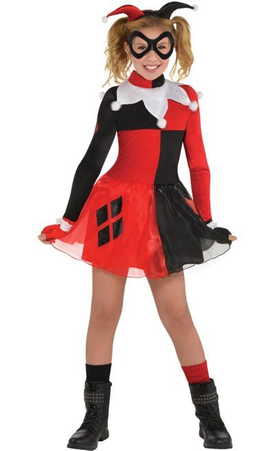 fa206d55200c Shop for Girls Harley Quinn Costume - Batman and other Girls Superhero  Costumes online at PartyCity.com. Save with Party City coupons and specials.