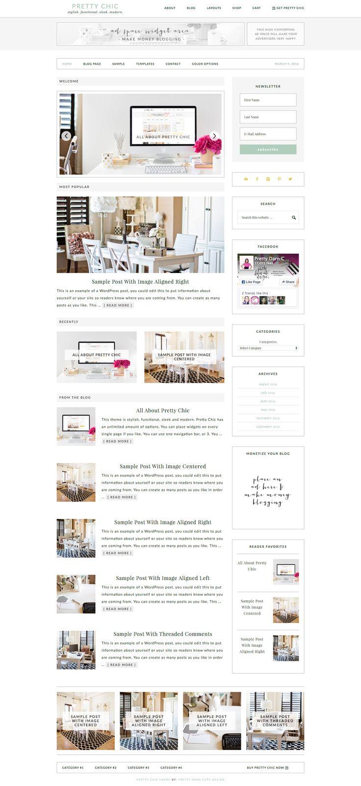 Pretty Chic WordPress theme via @studiopress
