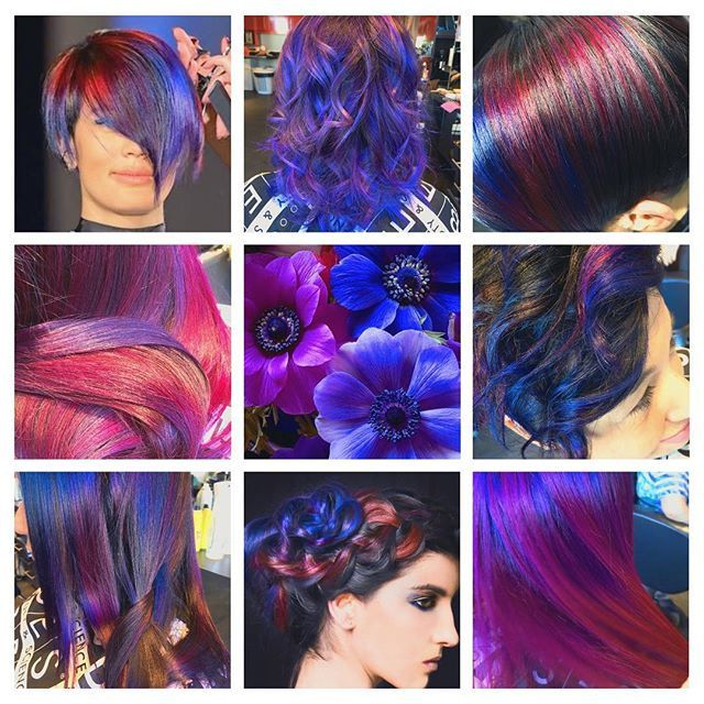 creation by Catherine Bellemare BES HAIR STYLIST Hair Color Blu Violet balayage tecnica ideas  inspiration capelli Moda  fashion  2017  Bes Italy Product