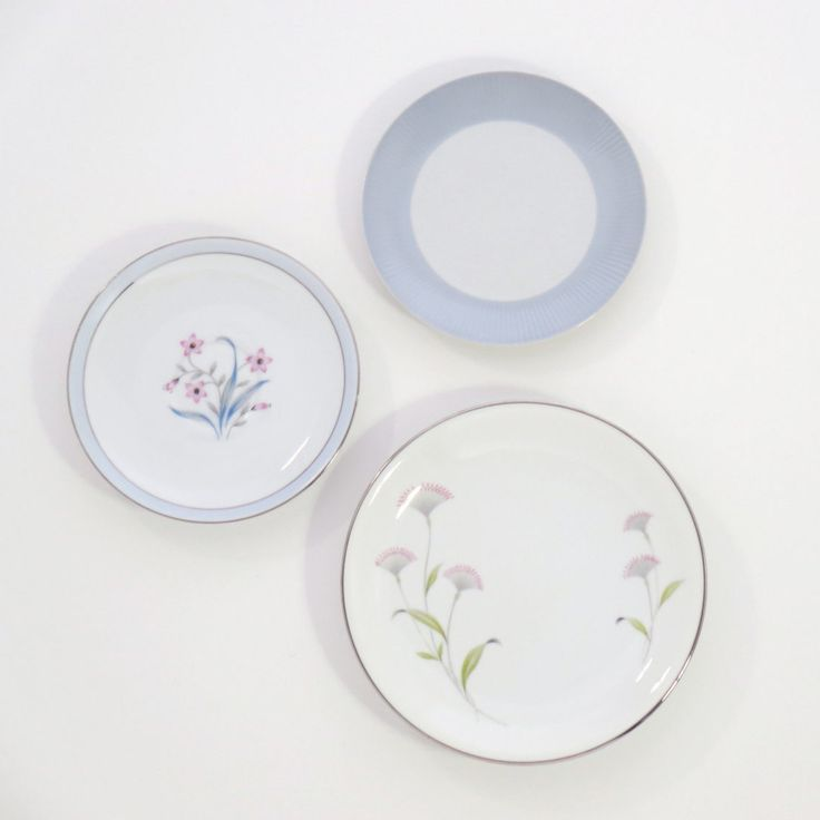 Decorative Plates Kitchen Wall Decor Shabby Chic Farmhouse Rustic Decor  Vintage Plate Set Mismatched Antique OOAK