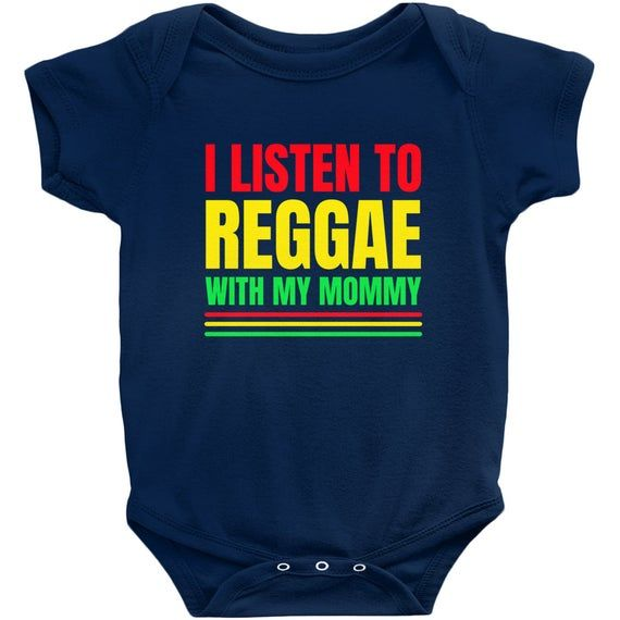 Baby Vests Bodysuits for Boys Girls I Listen to Reggae Music With My Daddy