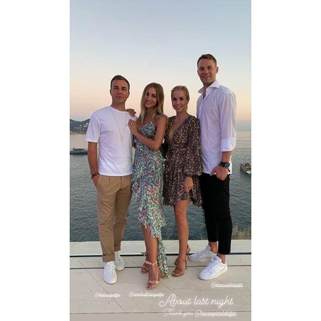 June 29 Ann Kathrin Gotze With Mario Gotze Nina Neuer And Manuel Neuer In Ibiza Via June 29 Ann Kathrin Gotze With Mario G Manuel Neuer Mario Gotze Ibiza