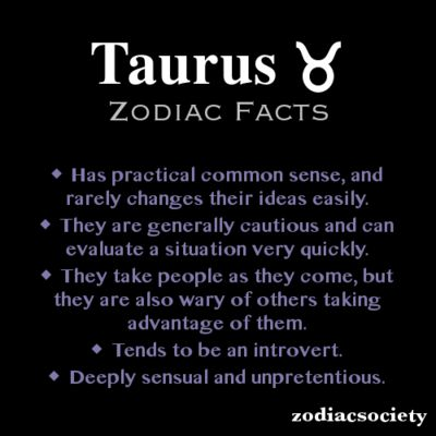 Taurus Zodiac Facts
