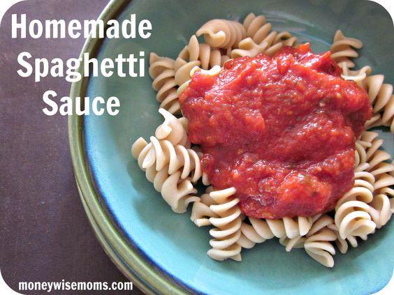 Homemade Spaghetti Sauce - Money Wise Moms