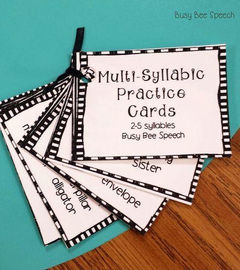 multisyllabic practice cards