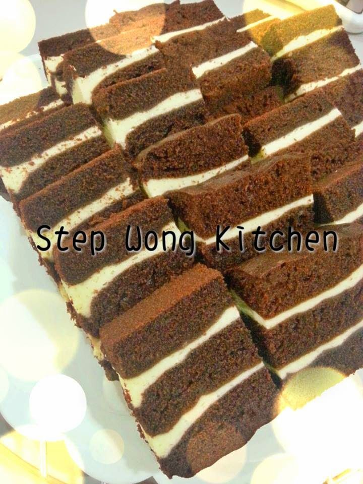 Step Wong Kitchen: 蒸巧克力芝士蛋糕~Steam Chocolate Cheese Layer Cake
