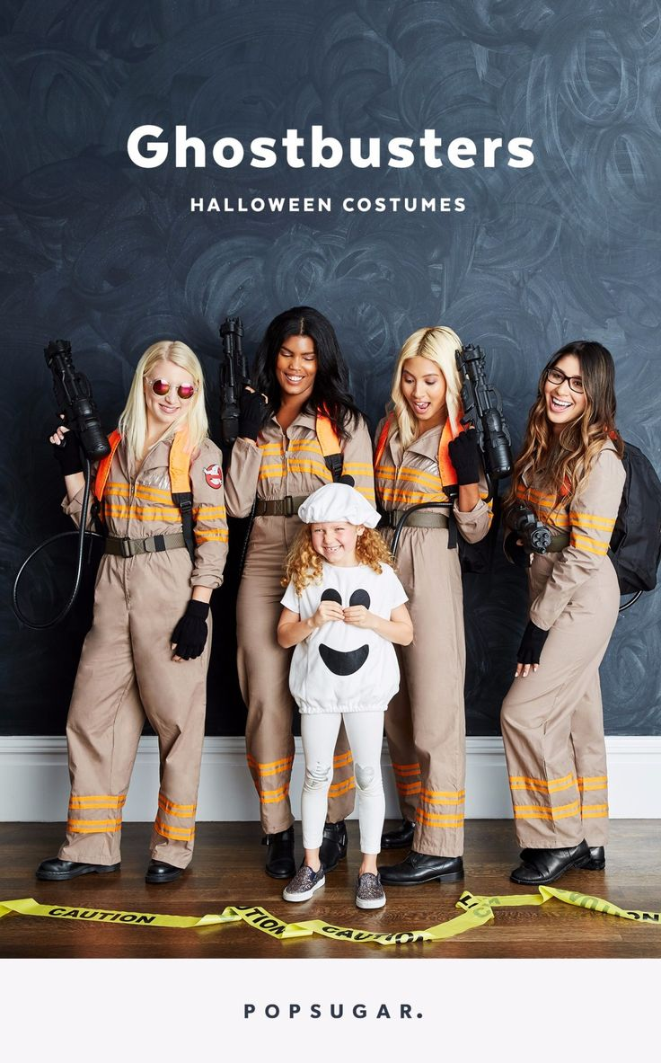 Throw it back to a classic movie, Ghostbusters, for Halloween with this easy DIY group costume.