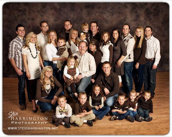 Large Family Portrait Ideas Indoor