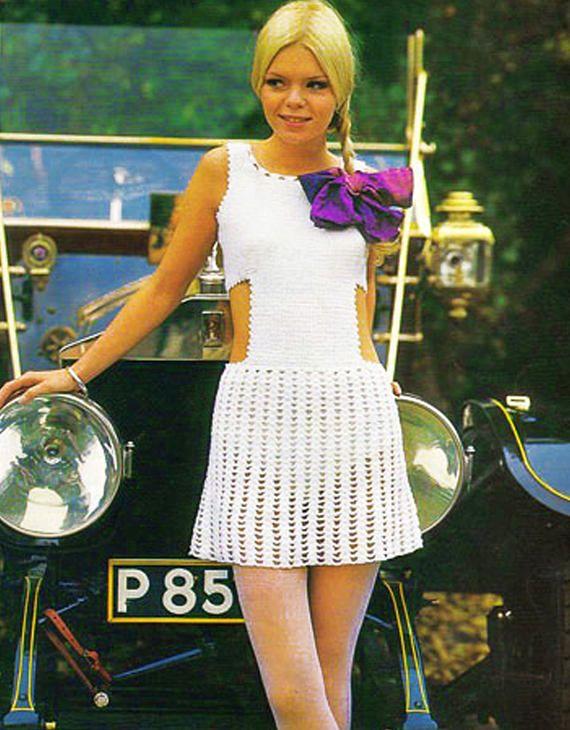 PDF Vintage 1960s Womens Dress Crochet Pattern Emu 2815 Key