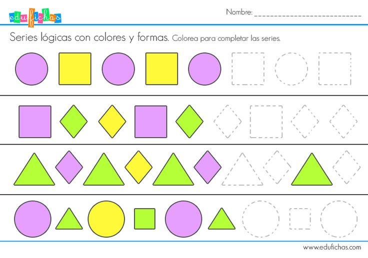 series logicas formas #series #logica #niños #actividades