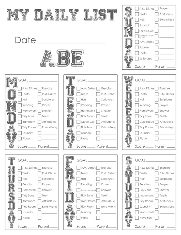 59 best Family images on Pinterest Families, Family meeting and - sample chore list