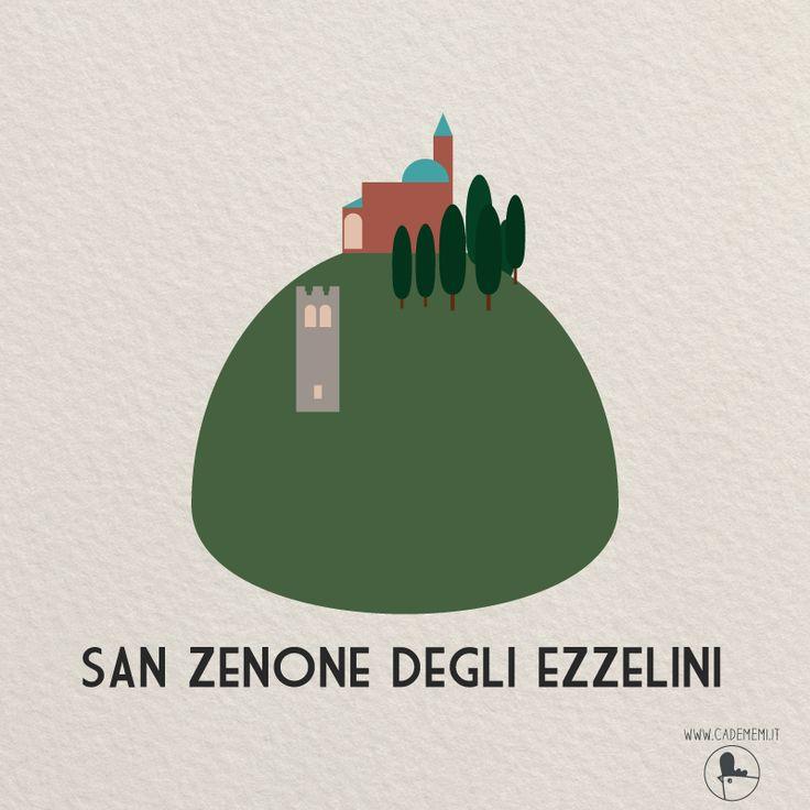 San Zenone degli Ezzelini near Bassano del Grappa. Illustration by Elena Scquizzato, Ca' de Memi