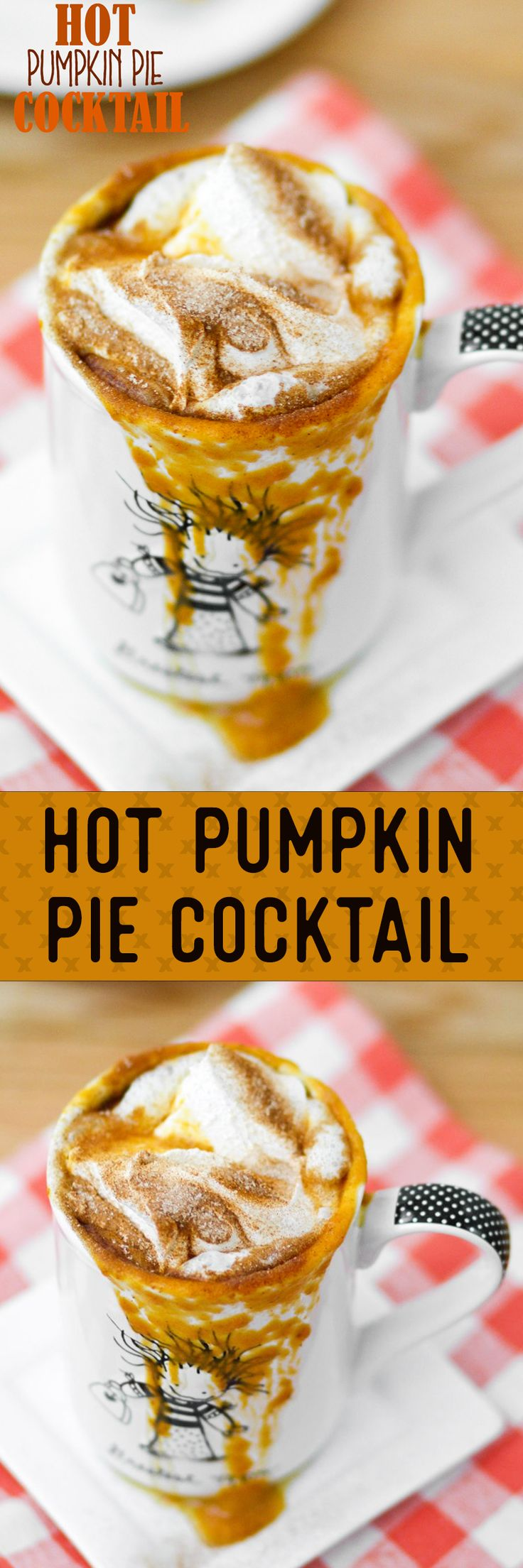 Hot Pumpkin Pie Cocktail -- tastes like a warm pumpkin pie with a kick!! So good -- perfect Thanksgiving cocktail!!