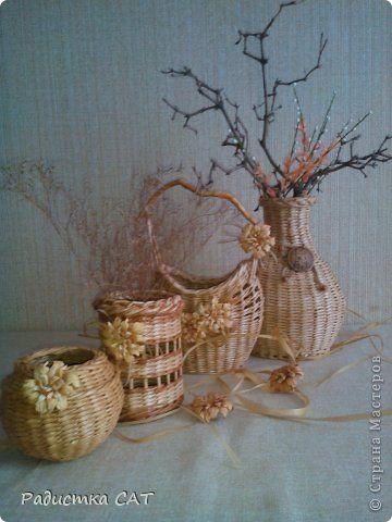 Поделка изделие Плетение Вазы-вазочки  Бумага Бумага газетная Трубочки бумажные фото 2