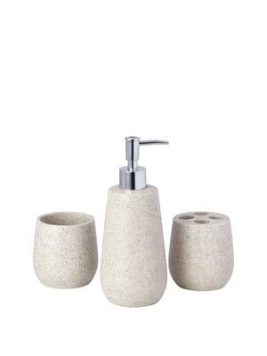 stone coloured bathroom accessories. Stone Effect 3 piece Bathroom Accessory Set  http www very 14 best Accessories images on Pinterest ideas