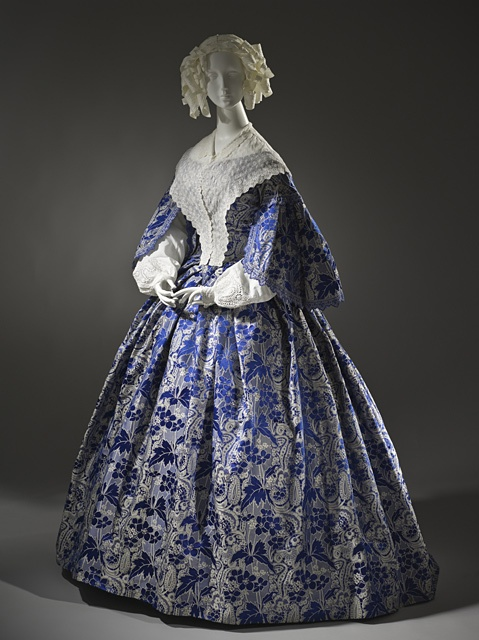 Woman's Two-piece Dress, France, circa 1855