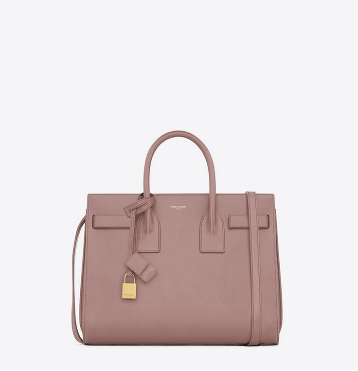 YSL Sac De Jour bag small in old rose leather